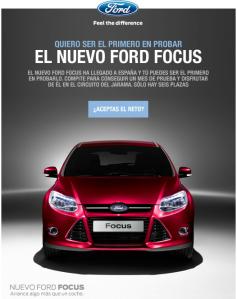 Quiero ser el primero en probar el nuevo Ford Focus
